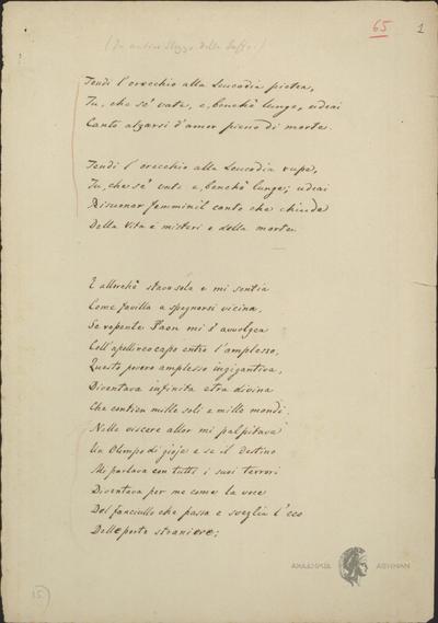 Αυτόγραφα Σολωμού - Σονέτα και άλλα, Αντίγραφο.
