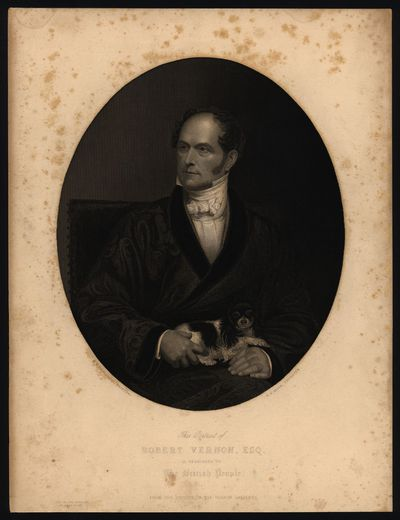 This portrait of Robert Vernon, Esq. is dedicated to the british people