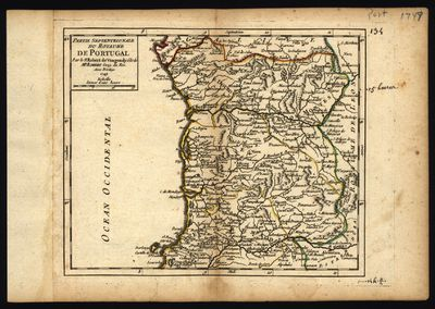 Partie Septentrionale du Royaume de Portugal. Partie Meridionale du Rayaume de Portugal