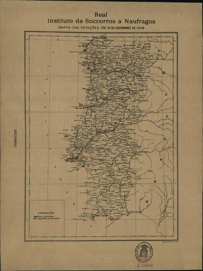 Mappa das estações em 31 de Dezembro de 1905