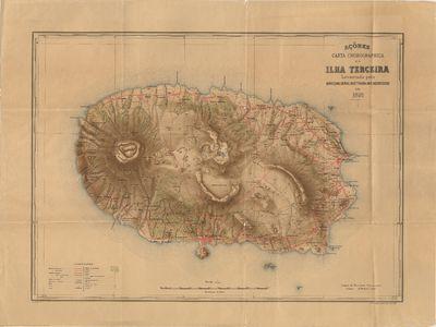Carta chorographica da Ilha Terceira: Açôres