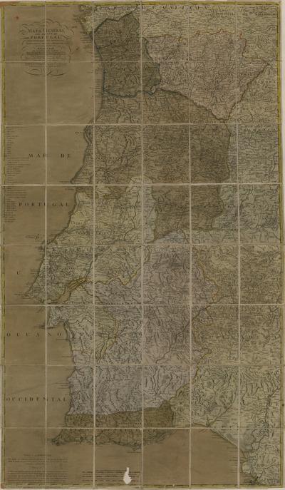 Mapa general del reyno de Portugal: comprehende sus provincias, corregimientos, oidorias, proveedurias, concejos, cotos &c.