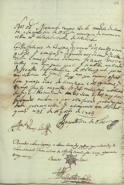 [Carta de Luís Barbosa Soares sobre uma ordem de quarentena imposta a um navio sueco que aportou junto da Fortaleza de Alabarquel]