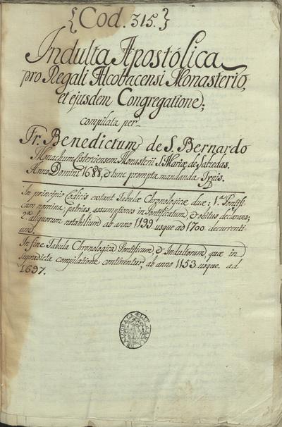[Indultos apostólicos relativos à Ordem de Cister em Portugal