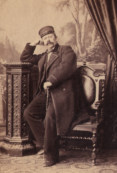 Portrait of Anastas Jovanovic, first Serbian photographer. Photography from Jovanovic`s family photo album.