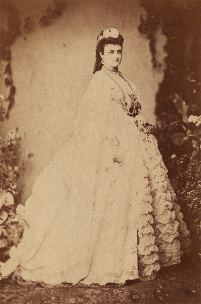 Portrait of princess Julija Obrenovic. Photography from photo album of Anastas Jovanovic`s family