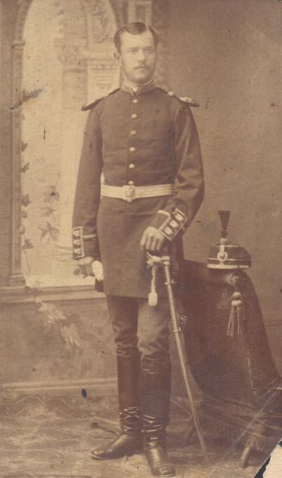 Portrait of lieutenant Dimitrije Dimitrijevic