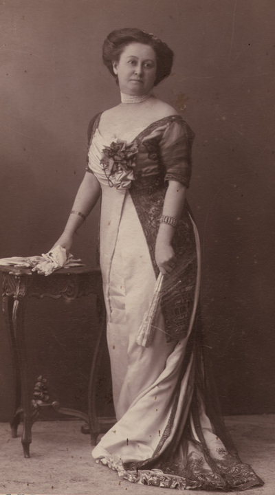 Portrait of Zorka Vlajic in evening dress