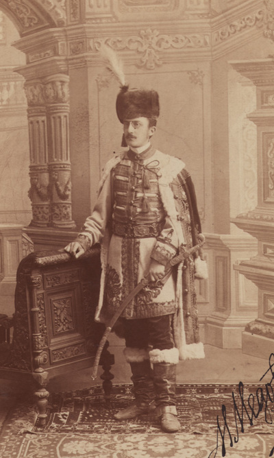 Portrait of Milan A. Medovic in hussar uniform