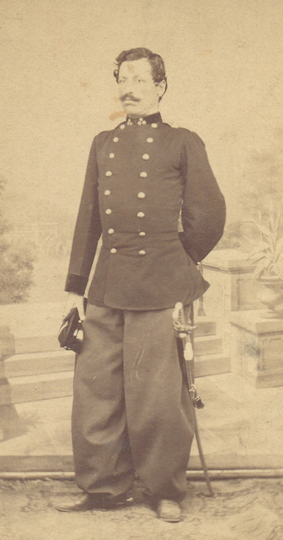 Portrait of Tihomir Nikolic, artillery captain and later Millitary Minister