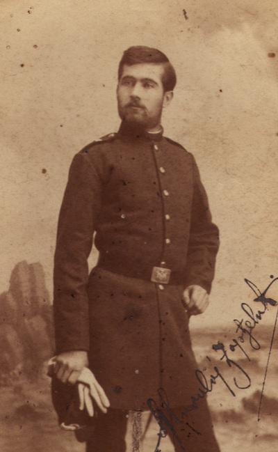 Portrait of a young officer Milivoj Djordjevic