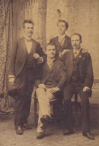 Group portrait of B. M. Sajkovic, M. Urosevic, A. Kuzmanovic and S. Bambasic