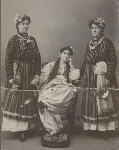 Group portrait of Ruzica Krasic, Tunka Slepcevic and Jela Jankovic.