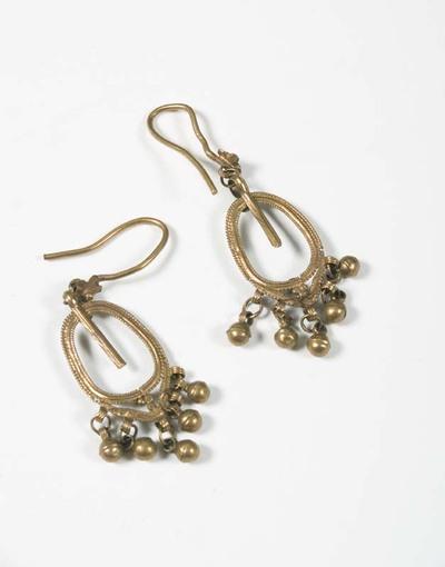 Paar Romeinse gouden oorbellen