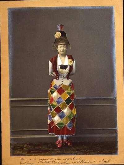 Costume da Arlecchino per giovanetta.