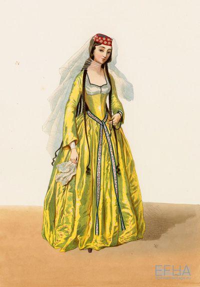 Vestment of a Georgian nobleman's daughter.