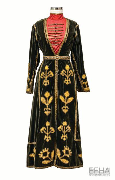 Dress and apron of Georgian woman Elisabeth Cherkezishvili.