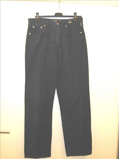 Blauwe 5-pocketbroek in dikke geweven katoen