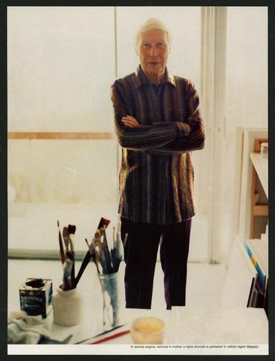 Archivio Missoni - The Artist Luis le Brocquy in multicolor Shirt by Missoni