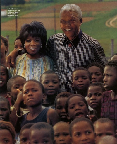 Archivio Missoni - Oprah Winfrey in pullover Missoni near Nelson Mandela