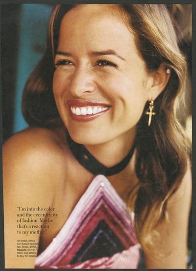 Archivio Missoni - Jewelery Designer Jade Jagger dressed in Missoni