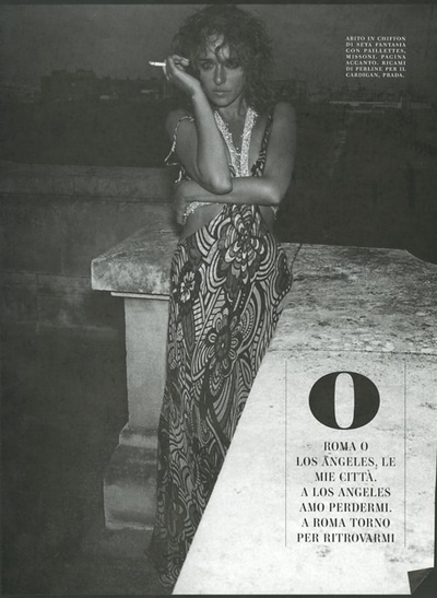 Archivio Missoni - Valeria Golino in a long Silk pinted Dress by Missoni