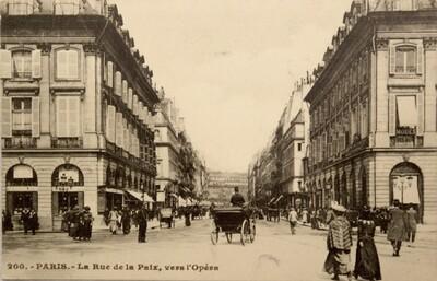 Postcard, Rue de la Paix