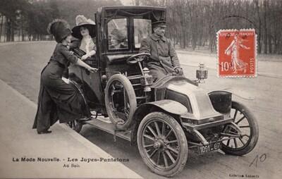 Postcard, La mode nouvelle - Les Jupes-pantalons