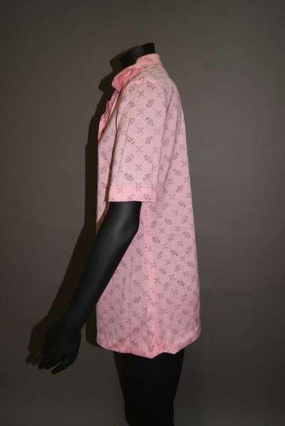 Polo a maniche corte in jersey di cotone e nylon, disegno