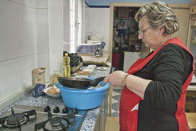 Preparación de la masa con aceite frito