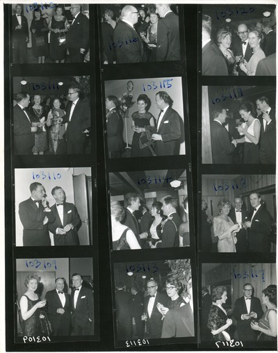 Contact sheet of guests at the Jacob's Awards