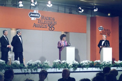 [Nuala O'Faolain] addressing the audience at the Jacob's Radio and Television Awards