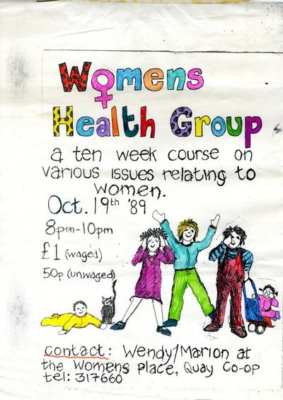 1989 Poster Women's Health Course Women's Place Cork