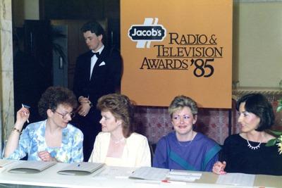 Registration desk at the Jacob's Awards