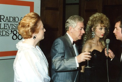 Gay Byrne and Kathleen Watkins at the Jacob's Awards