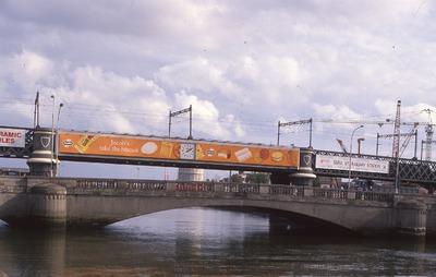 Jacob's outdoor advertisement on Loopline Bridge