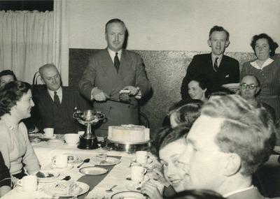 Edward C. Bewley at a sports club celebration