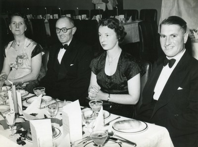 Guests attending a formal dinner