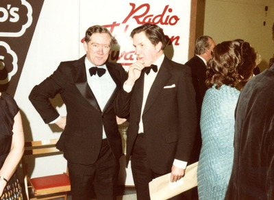 Frank Hall and Leo O'Donnell at the Jacob's Radio and Television Awards
