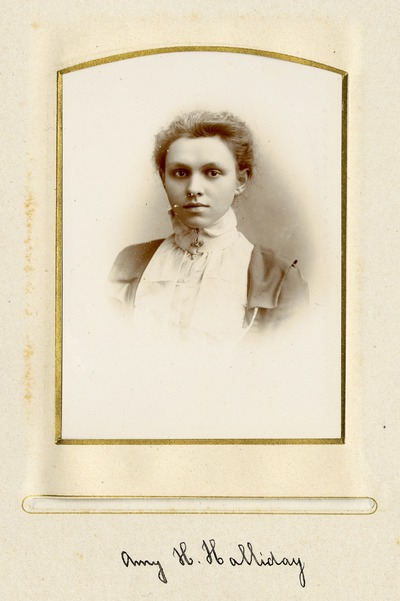 Portrait photograph of Jacob's worker Amy H. Halliday