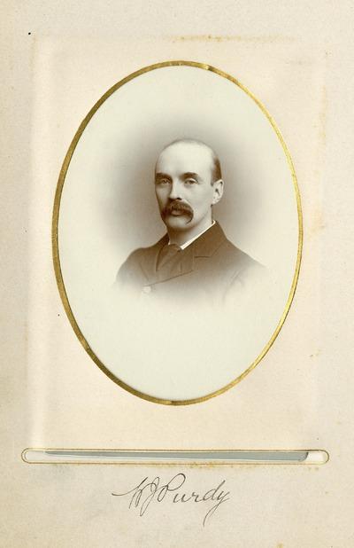 Portrait photograph of Jacob's worker [H. J. Purdy]
