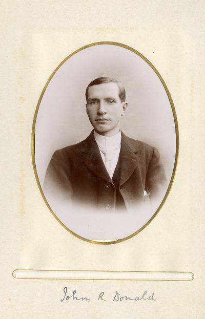 Portrait photograph of John R. Donald