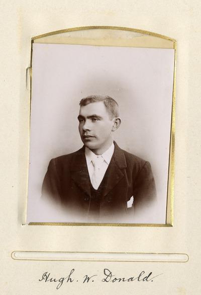 Portrait photograph of Hugh W. Donald