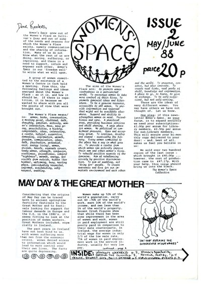 Women's Space Newsletter Issue 2 May/June 88