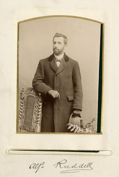 Portrait photograph of [Alfred] Ruddell