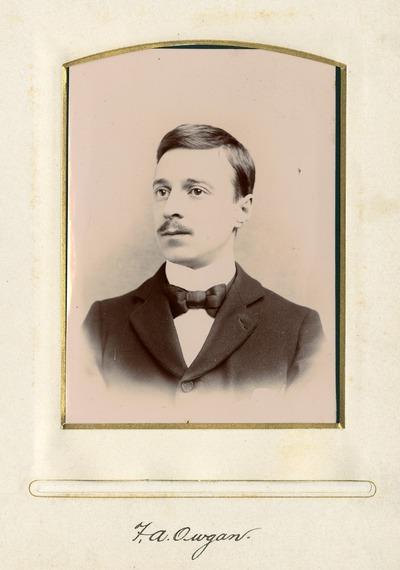 Portrait photograph of Jacob's employee F. A. Owgan