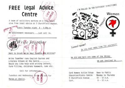 Cork Women's Action Group Leaflet