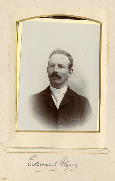 Portrait photograph of Edward [Blym]