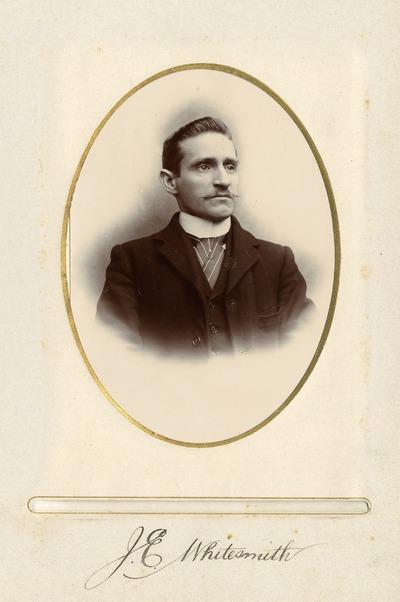 Portrait photograph of Jacob's employee J. E. Whitesmith