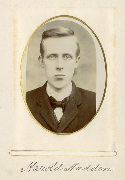 Portrait photograph of Harold Hadden